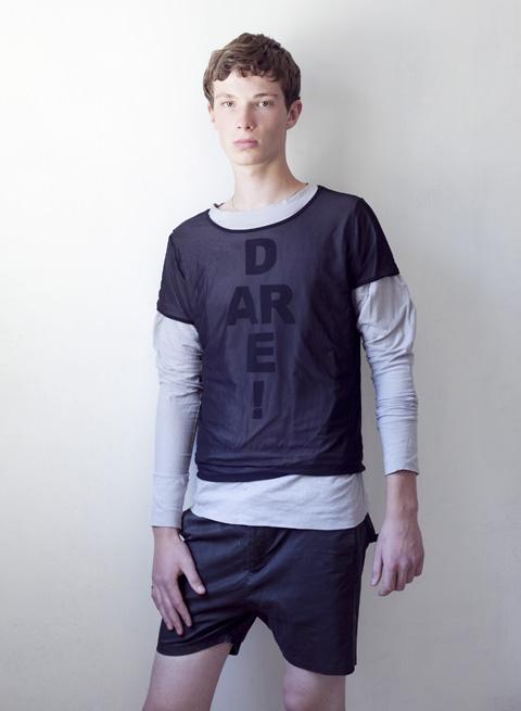 חולצה מודפסת- רוני בר חולצה שקופה- אמריקן אפרל שורטס- שיין
