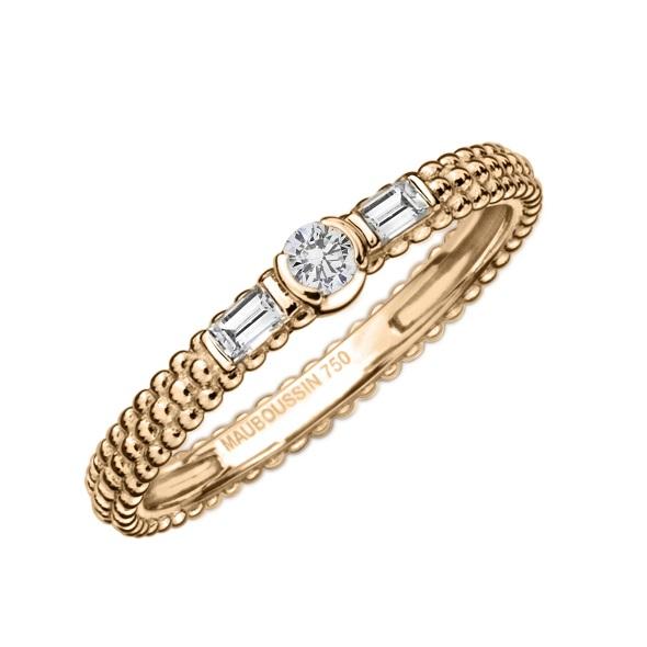 טבעת LAmourJeTAime-אהובתי אני אוהב אותך של תכשיטי MAUBOUSSIN  עשויה זהב צהוב ויהלומים מחיר 4,720 שח
