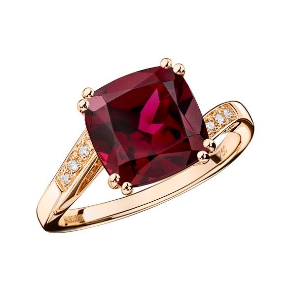 טבעת MOME JE T'AIME- ילדה אני אוהב אותך של תכשיטי MAUBOUSSIN עשויה זהב ורוד, רודוליט ויהלומים מחיר 6,760 שח