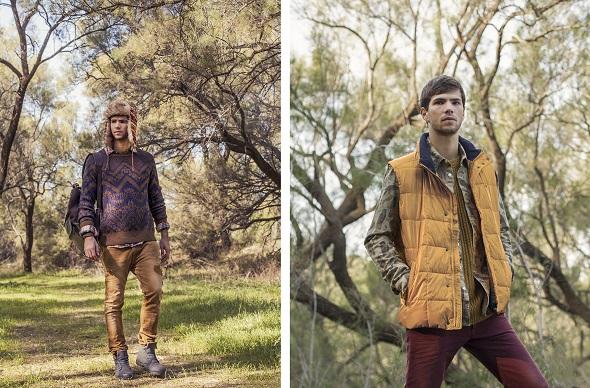 ימין - סוודר חרדל- H&M/ חולצת ציפורים- H&M/ ווסט צהוב- Tommy Hilfiger / מכנס - Diesel/ נעליים- Blundstone שמאל - חולצה מכופתרת משובצת- Wrangler/ סוודר- H&M/ ג׳ינס קאמל- Diesel/ נעליים - RENUAR MEN/ תיק גב- Inside Out/ צמיד עור- Seven 4 all mankind/ כובע- אוסף אישי