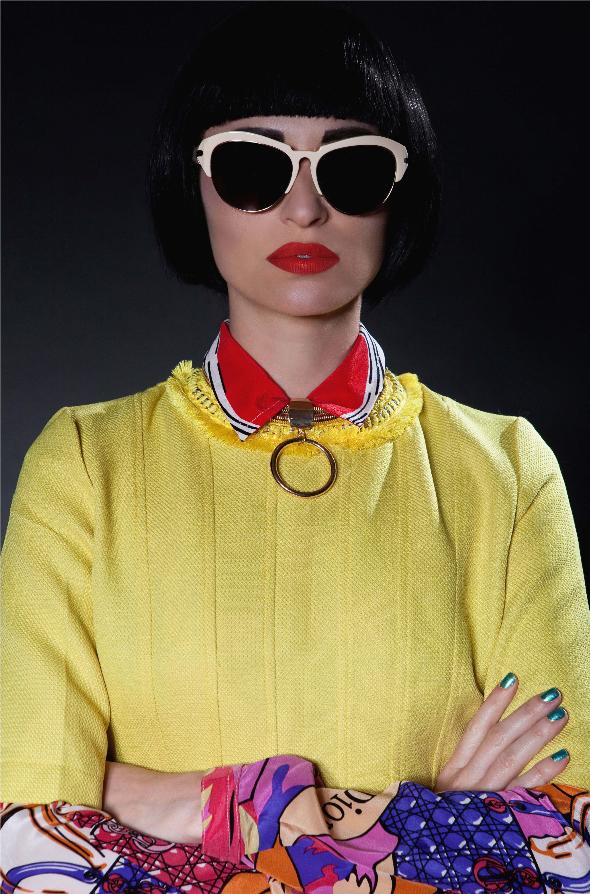 משקפים- ג'יבנשי/חולצה- DIOR לבוטיק אמור/טופ צהוב- www.bnutybyarketa.com  /שרשרת- H&M
