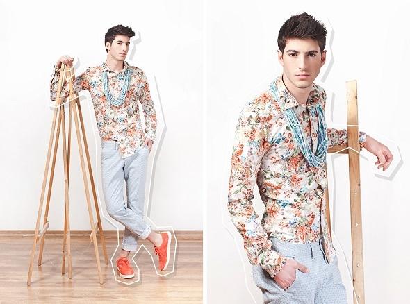 חולצה זארה/שרשרת מאוריציו פולשק/מכנסיים קארל מומו לבוטיק מונסניור/נעליים אינסייד אאוט.