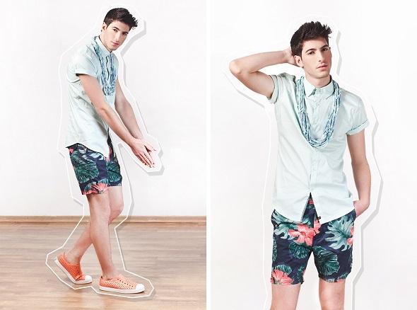 חולצה קסטרו מן/שרשרת מאוריציו פולשק/מכנסיים H&M/נעליים אינסייד אאוט.