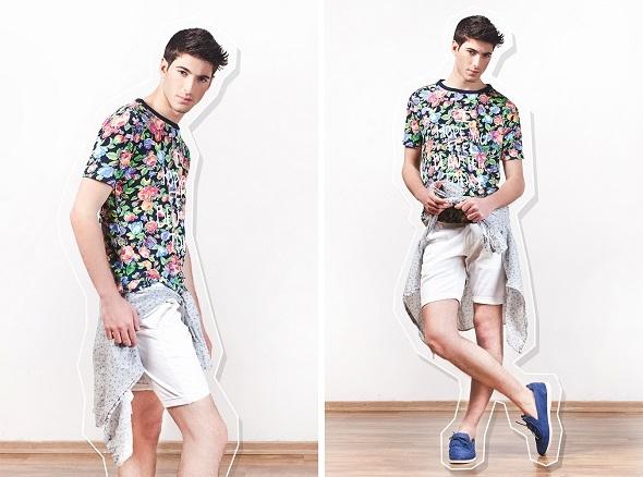 חולצה עדיקה/מכנסיים קסטרו/חולצה קשורה הוגו בוס/נעליים אינסייד אאוט.