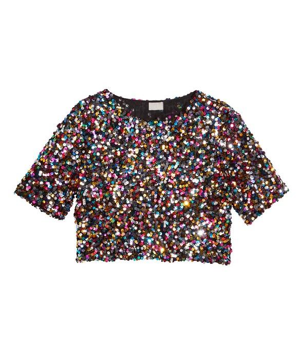 """H&M , חולצת פייטים, 199 ₪. צילום: יח""""צ חו''ל"""
