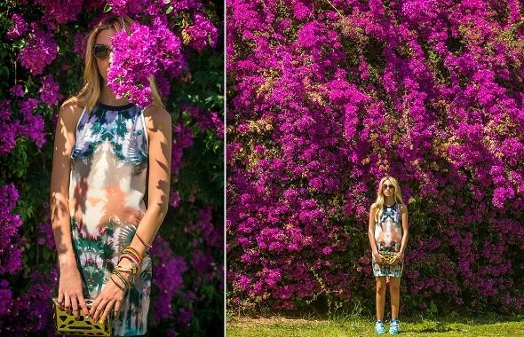 שמלת עצים:SANDRO/תיק: ZARA/נעליים: ADIDAS