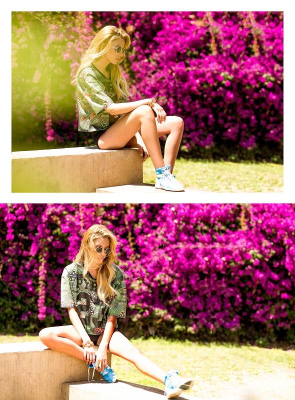 """חולצה: RANDS/תחתון: TOPSHOP/נעליים:אדידס/צמיד: אוסקר דה לה רנטה/משקפי שמש : בעין יפה - דיזינגוף ת""""א."""