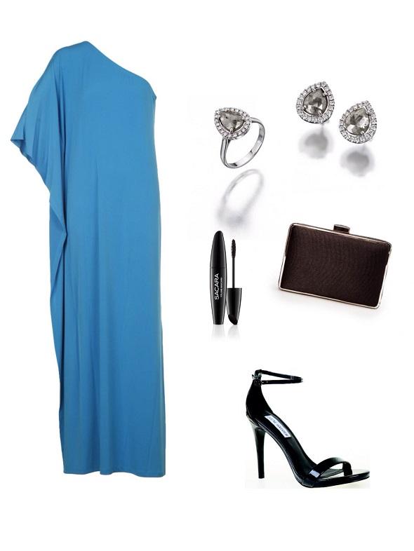שמלה- מייקל קורס לפקטורי 54/עגילים וטבעת- אור טוקאטלי/   קלאץ׳- מנגו/ נעליים- סטיב מאדן.