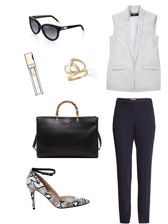 וסט- מנגו/מכנסיים ונעליים H&M /משקפיים- רוקגלאם/תיק- גוצ׳י/טבעת - ה.שטרן/ שפתון- קלארינס.