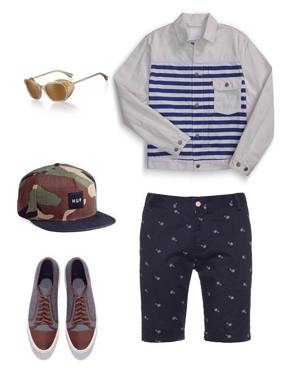ג׳קט- ליוויס / מכנס- עדיקה / משקפיים- ארמני/כובע HUF / /נעליים- סליו