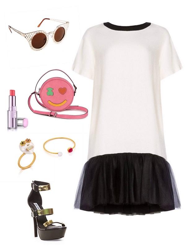 שמלה- אליז/ משקפיים- לסטר / תיק,טבעת וצמיד- tous/  נעליים- סטיב מאדן/ אודם- לוריאל פריז.