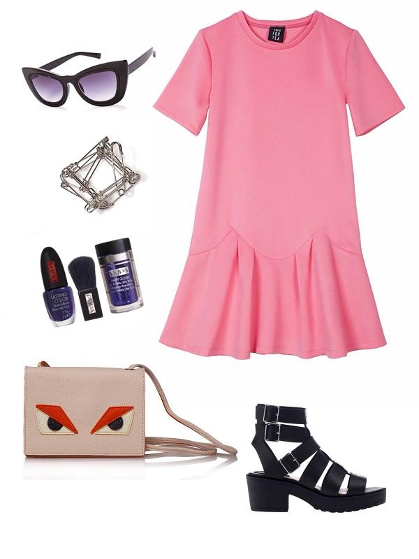 שמלה- בוטיק ירין/ משקפיים- רוקגלאם/ צמיד- יויו32/ לאק- פופה/תיק - אמה/ סנדל- ברשקה.