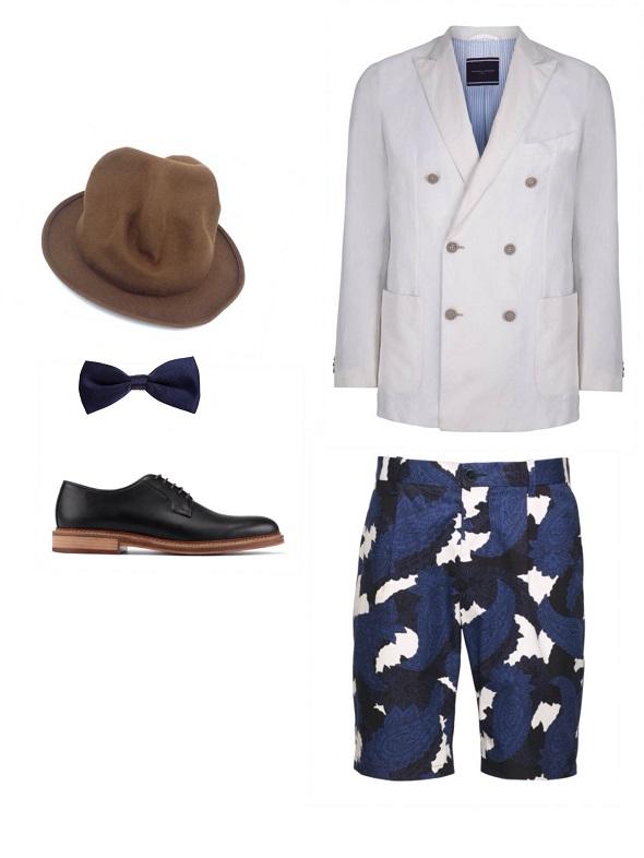 ג׳קט- טומי הילפיגר / מכנס- H&M / כובע- ויויאן ווסטאוד/ פפיון- בגיר/ נעליים- אלדו