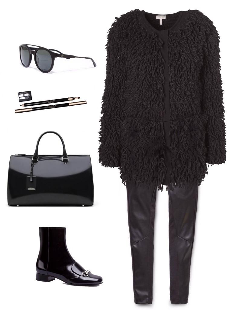 ג׳קט- אסקדה בלעדי לMillos- /מכנס עור- ג׳י סטאר/ תיק- ג׳יל סנדר/ נעליים- גוצ׳י/ עפרון ואיילנר- קלארינס/משקפיי שמש - .stussy