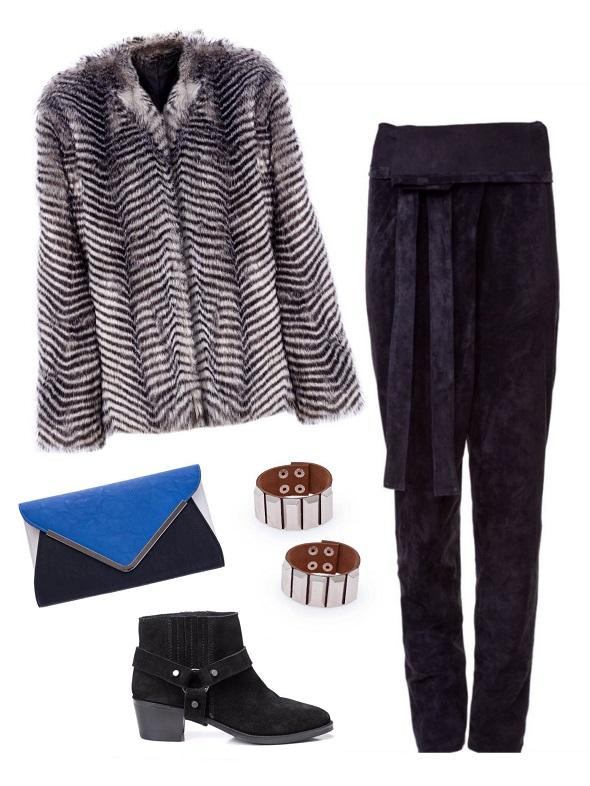 מכנס- קסטרו/ ז׳קט ונעליים- מנגו/ צמידים- עדיקה / קלאץ׳ -  .me.she