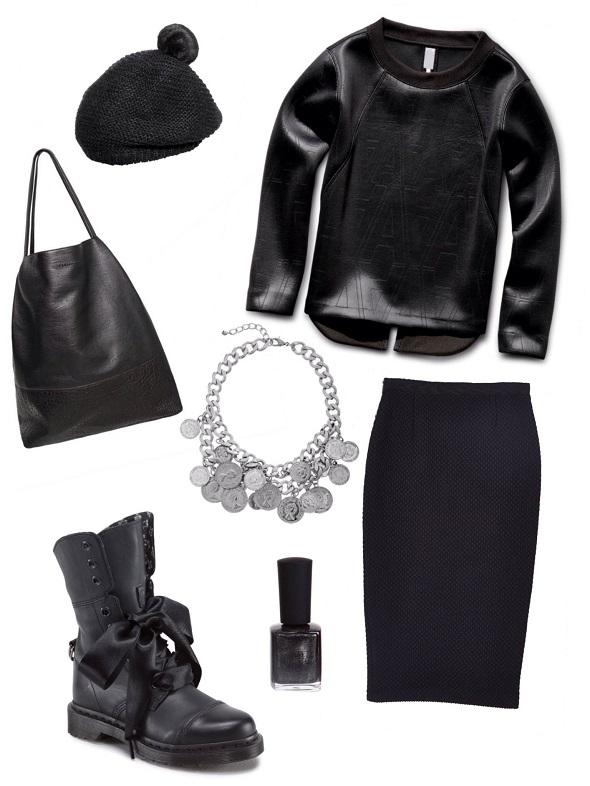 חולצה- ג׳י סטאר/חצאית- אסוס/ נעל- דיזל/ כובע- H&M/ תיק- פול אנד בר/ לאק - סטיב מאדן/ שרשרת- לה בוטגה.