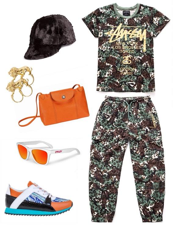 מכנס וחולצה- stussy/ כובע- H&M / תיק- לונגשאמפ/ משקפיים- אוקלי/טבעות- stussy / נעליים-רוקגלאם.