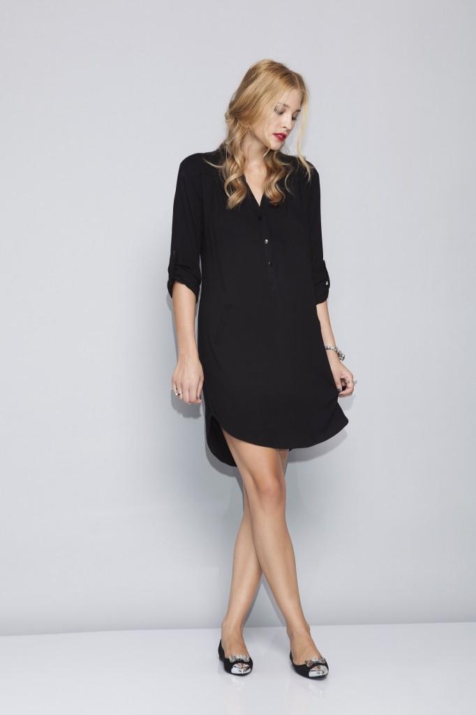 אפרתה שמלה שחורה בשילוב כפתורים 349שח צילום תום מרשק