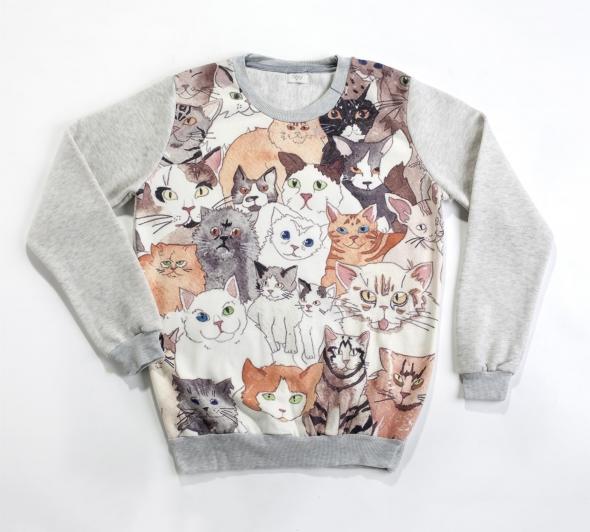 אמה. סווצ'רט חתולים, 249 ש''ח. צלם דן לב (Custom)