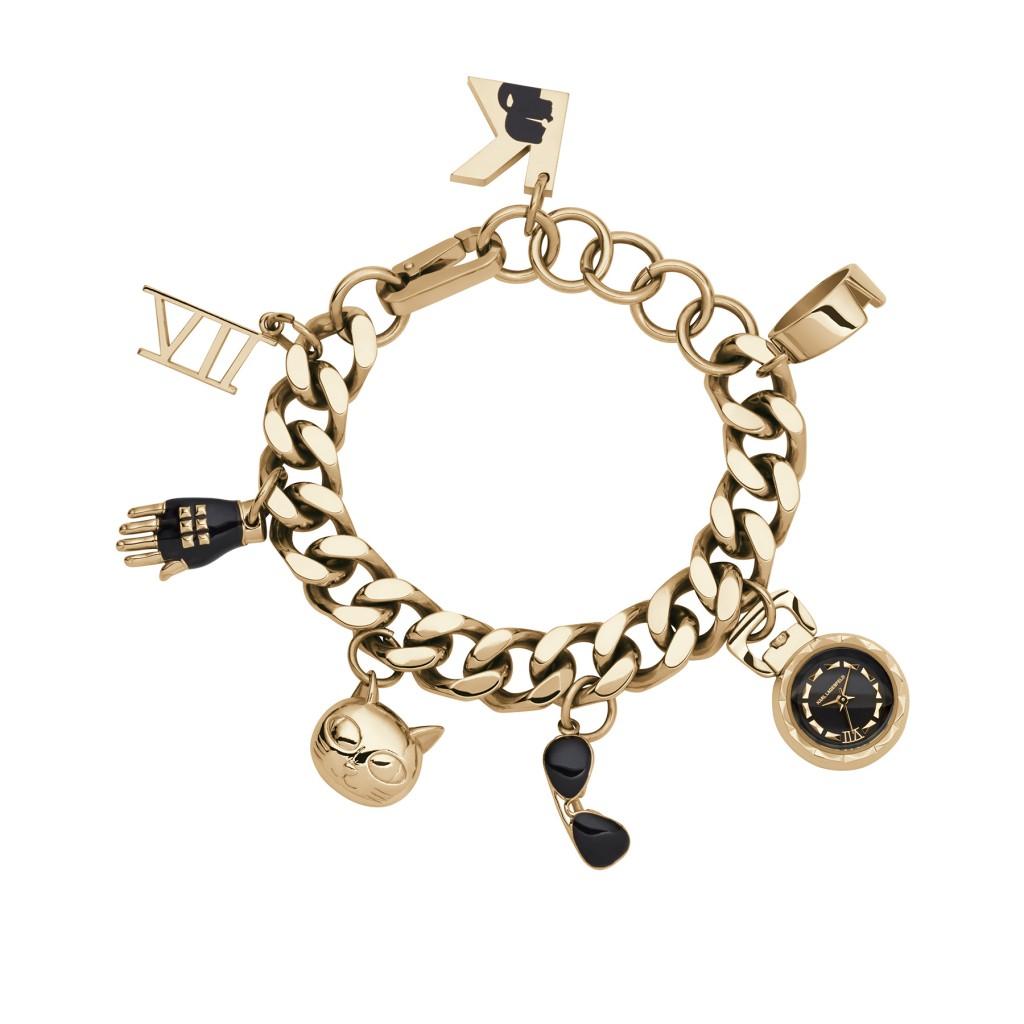 שעון צמיד שארם של קרל לגרפלד לפדני/ מחיר: 2200 ₪/ צילום: יח''צ חו''ל