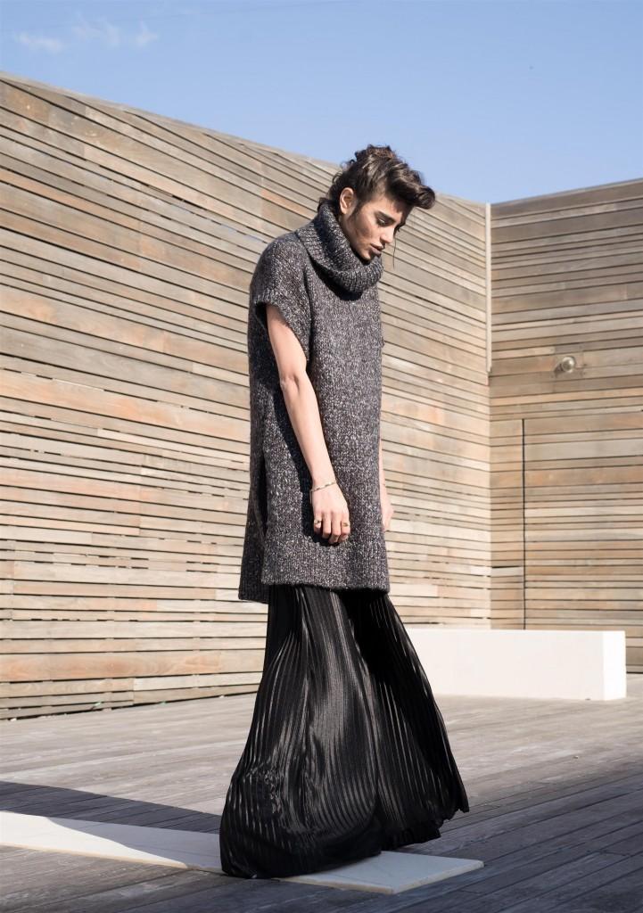 סריג: H&M/ שמלה: אמריקן אפרל