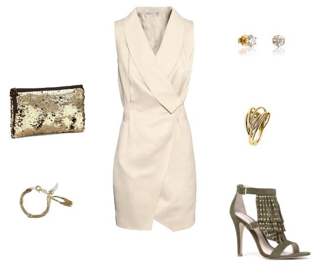 שמלה ותיק קלאצ': H&M/ נעליים: ALDO/ צמיד: מסימו דוטי/ עגילים: TOUS/ טבעת: קלווין קליין