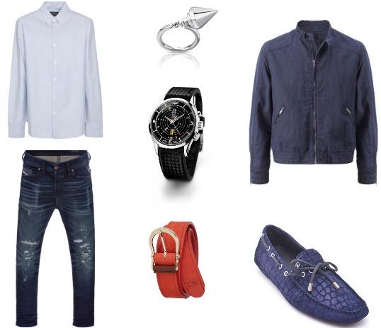 ג'קט: מנגו גברים/ חולצה מכופתרת: pull&bear/ מכנסיים: דיזל/ נעליים: ג'אסט קוואלי/ חגורה: מסומי דוטי/ שעון: vulcain/ טבעת: TOUS