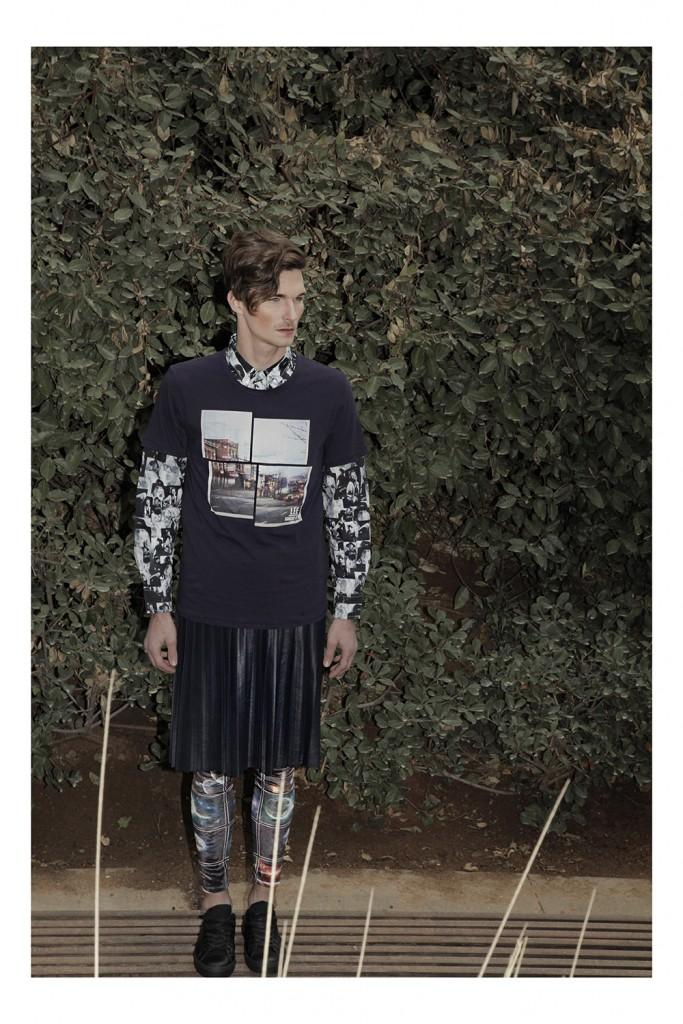 חולצה מכופתרת: סטוסי/  טי שרט: lee/ חצאית: אייסקיוב/ טייץ: tighs/  נעליים: אלדו