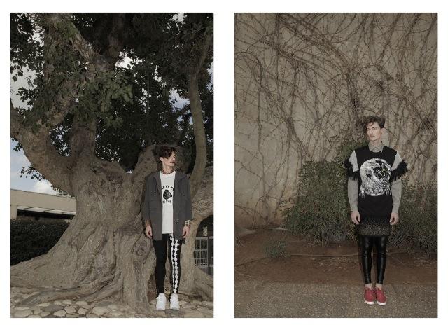 (מימין) חולצה מכופתרת: נאוטיקה/ חולצה: בוטיק אמה/  חצאית: זיפ/ טייץ: tighs/ נעליים:אלדו (משמאל) חולצה מכופתרת: lee/ חולצה וג'קט: missbehava/  טייץ: tighs/ נעליים: ריבוק