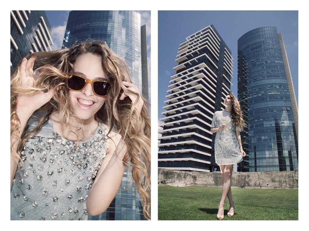 (מימין)שמלה-אסוס/ נעליים guess/ (משמאל) שמלה: Lanvin/ משקפיים: Dolce&Gabbana