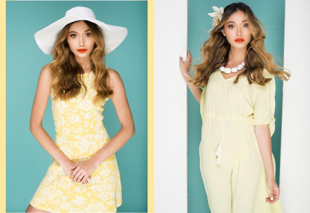 שמאל: שמלה זיפ/ כובע H&M/ ימין: גלביה יפו תל אביב/ שרשרת דורית שדה