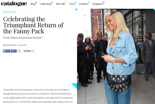 ריהאנה מתוך Catalogue magazine  כמה את מחזיקה בפנים?