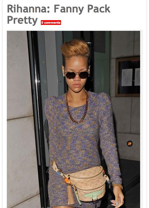 ריהאנה מתוך OK! magazine. מה יותר צריך לחזור לאייטיז הפאוץ׳ או השמלה?
