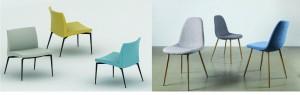 כיסאות בצבע בחלל יהפכו אותו למעניין יותר/ מימין לשמאל: סימפליווד, רוזטו/ צילום: יח''צ