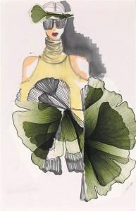 טכניקות מיוחדות באיורי אופנה בשונה ממה שהיא מלמדת/ מימי זיו