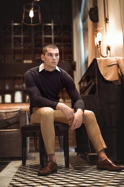 מכנסיים באמוס סקוור | חולצה מכופתרת ליאת זרמון | סריג זארה