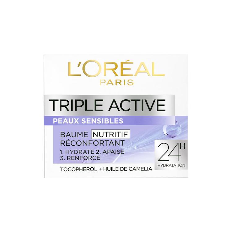 קרם לחות טריפל אקטיב של לוריאל פריז לעור רגיש ואדמומי | 100 ש״ח ל 50 מ״ל | צילום יח״צ חו״ל
