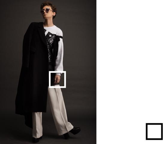 שמלה ומכנסיים רנואר   ג'קט אייץ אנד אם    נעליים עמנואל   משקפיים פרינס