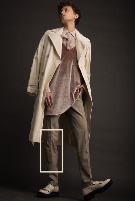 חולצה מכופתרת עמנואל | שמלה מעל פול אנד בר | מכנסיים אמריקן וינטג'|  מעיל ראלף לורן | נעליים ניין ווסט