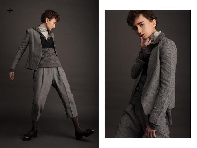 חליפה ארמני אקסצ'יינג   חולצת גולף טי אן טי   טי שרט ברשקה   חזיה ג'ק קובה  נעליים ניין ווסט