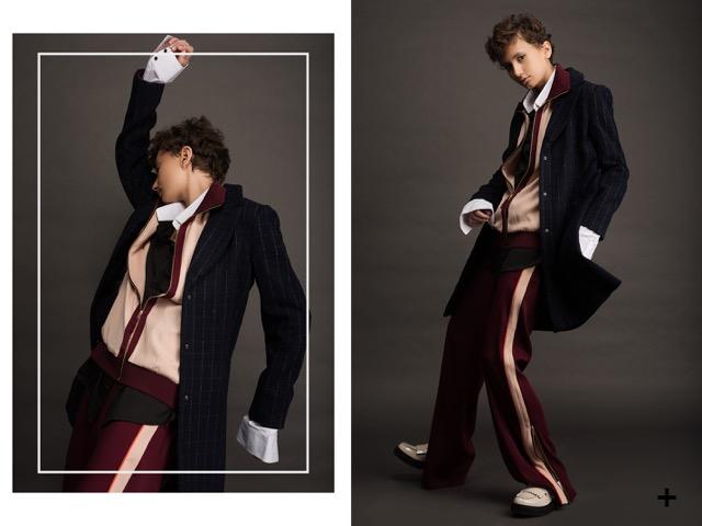 חולצה רנואר | חליפה אייץ אנד אם | ג'קט ארמני אקסצ'יינג'| נעליים ניין ווסט