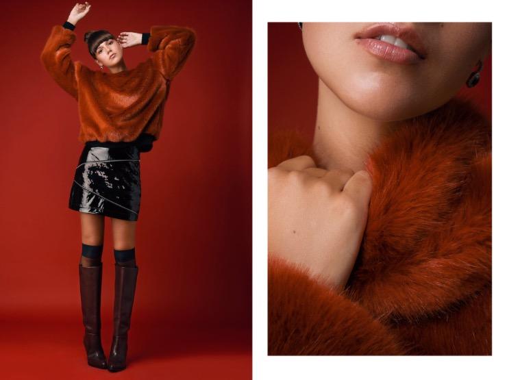 סווטשירט מאיה נגרי |חצאית טופ שופ | גרביים דלתא | מגפיים H&M