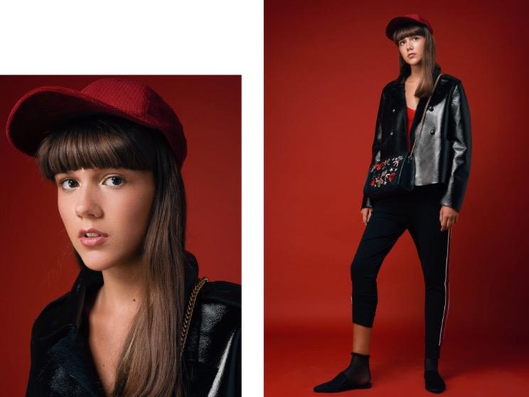 גופייה H&M   מכנסיים קסטרו   מעיל דיזל   כובע טופ שופ   נעליים ותיק זארה