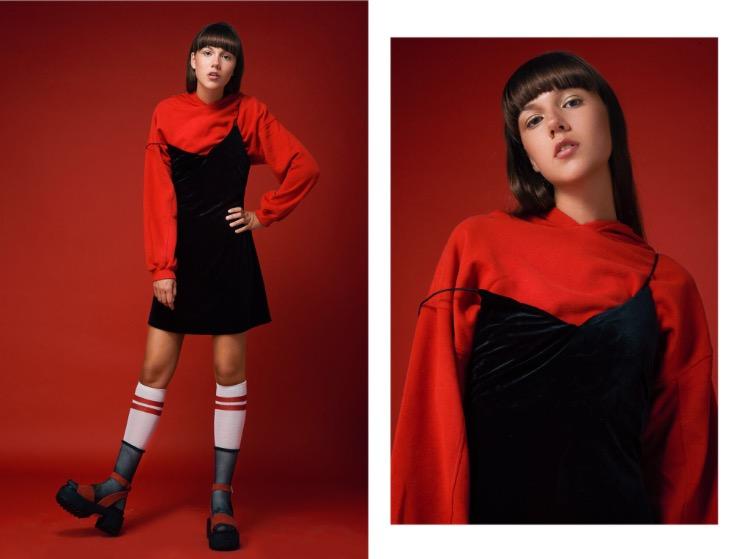 שמלה קסטרו | קפוצ׳ון ברשקה | גרביים פיקס | נעליים טופ שופ
