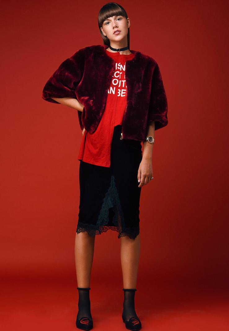 מעיל אוסף פרטי   חצאית H&M   חולצה ברשקה   נעליים פריטי בלרינה   צ׳וקר עדיקה   שעון ג׳וסי קוטור   טבעת DF
