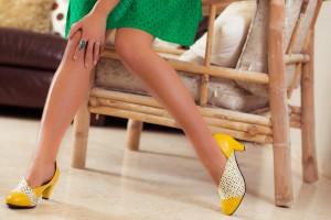 נעל צהובה