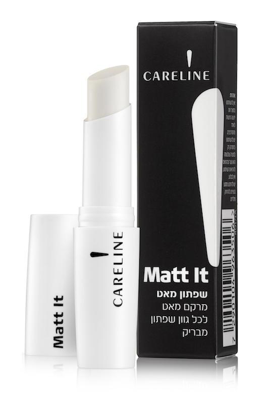 MATT IT של קרליין | שפתון שקוף המעניק מרקם מאט לכל גוון שפתון מבריק | 74.90 ש״ח |צילום מוטי פישביין