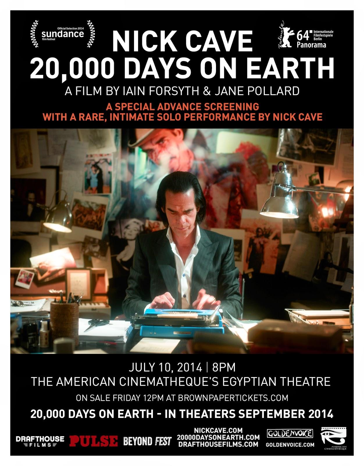 Nick Cave LA Ad Mat