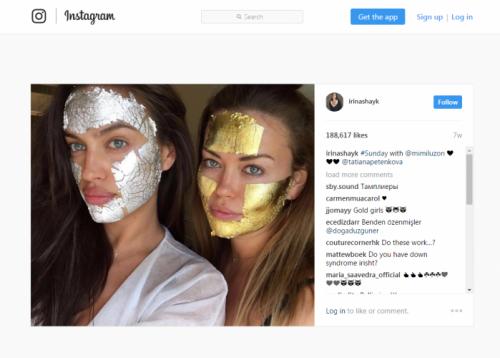 סלבריטאיות בינלאומיות בטיפולי פנים של מימי לוזון | מתוך עמוד האינסטגרם של אירנה שייק