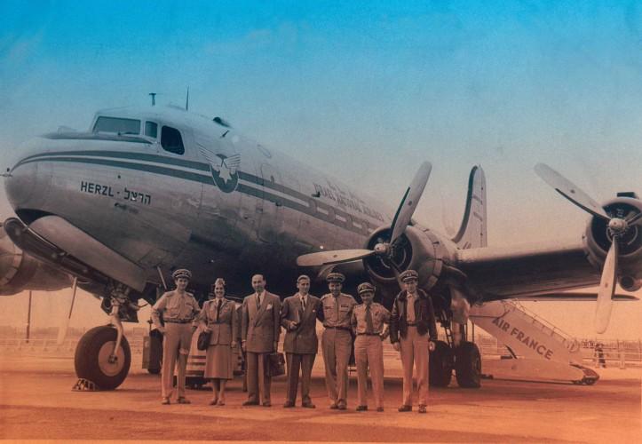 אל על נחיתה בפריס 1949 מתוך אוסף מרוין גולדמן